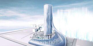 Yumeshima station tower-rendering-Osaka-metro